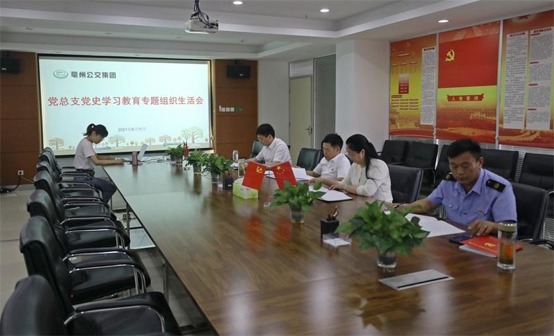 公交集团召开党史学习教育专题 组织生活会